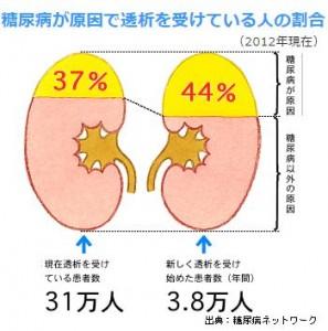 人工透析患者の半分は糖尿病