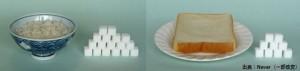 ご飯とパンの糖分量