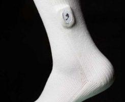 温度センサーつきのソックスで足潰瘍を予防する