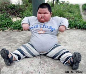 7歳の肥満児は糖尿病になるリスクが高いので肥満を解消してください