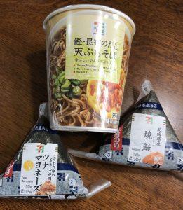 おにぎりと天ぷら蕎麦で食後高血糖