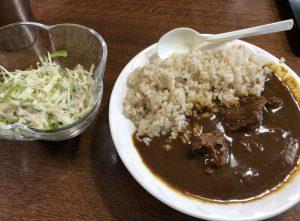 カレーの白米を玄米に替えたら血糖値が下がった